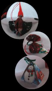 Objets de décoration pour une belle table festive ou un sapin