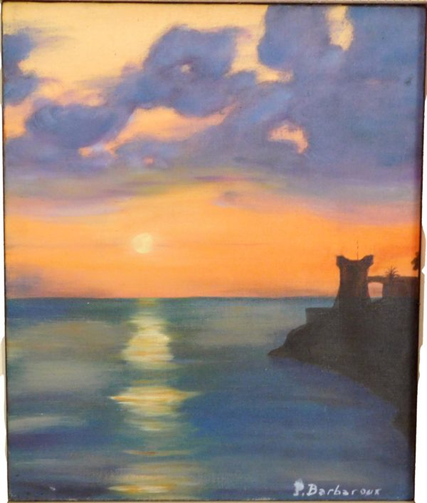 La peinture de fond de Mr. Barbaroux.